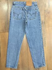 LEVIS Vtg 90s Womens High Waisted 550 Jeans Relaxed Fit Made In USA Size 9 JR S