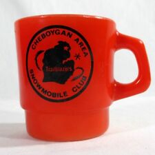 Vintage Red Anchor Hocking Cheboygan Area Michigan Snowmobile Club Trailblazers