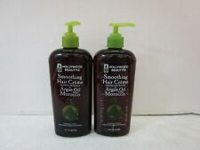 2 HOLLYWOOD BEAUTY SMOOTHING HAIR CREME & LEAVE-IN 12 FL OZ EACH MM 17789