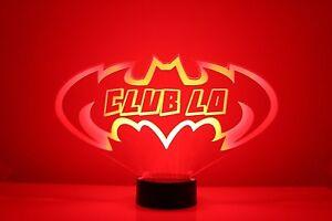 Batman Night Light Personalized FREE, Superhero LED Night Light Lamp, Desk Lamp