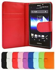 PU Leather  Wallet Book Case Cover Pouch For Sony XPERIA Phones+Free Postage