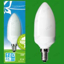 2x 5W BASSE CONSOMMATION économie d'énergie LCF Ampoule type Bougie ses
