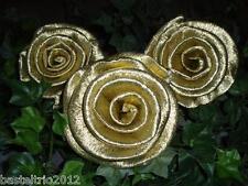 50 x Krepprosen gold Goldhochzeit Jubiläum Deko Hochzeit Blumen Geburtstag