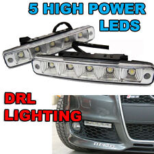 *White 5 LED Daytime Running DRL Day Light Universal Exterior Car Front Light 6K
