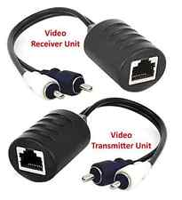 Composite RCA Video Audio Over Cat5 Cat5E Cat6 Balun Extender