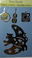 Plaid All Night Media Brass Embossing Stencil & Charms - Cow & Moon - 46771