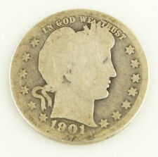 1901-O 25c BARBER QUARTER COIN ABOUT GOOD AG CONDITION!!