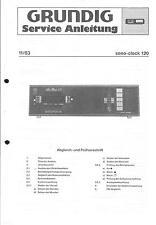 Grundig Original Service Manual für Sono-Clock 120