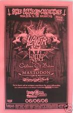 Slayer-Lamb Of God-Mastodon 2006 San Diego Tour Poster