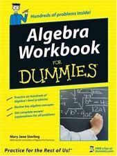 Algebra Workbook For Dummies by Mary Jane Sterling