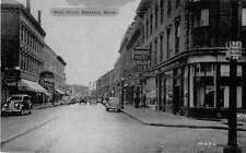 Rockland Maine Main Street Antique Postcard J54385