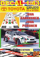 DECAL 1/43 TOYOTA CELICA ST205 J.KANKKUNEN RAC 1996 DnF (04)