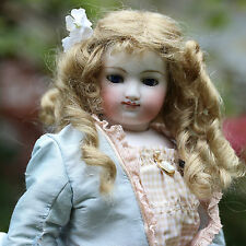 BRU FASHION DOLL 1870 IN SILK BAROQUE DRESS SMILING DOLL ANCIEN BRU la Poupée