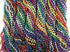 72 Multi Colors Mardi Gras Beads Necklaces Party Favors 6 Dozen Lot Global Disco