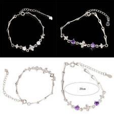 Ladies Crystal Wild Wrist Chain Zirconia Rhinestone Bracelet Adjustable Bangle H