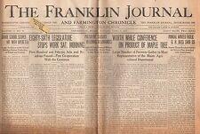 Farmington ME Newspaper Franklin Journal And Farmington Chronicle April 4, 1933