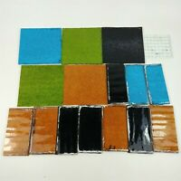 """Stained Glass 6""""x6"""" 6""""x2.5"""" Scrapes Projects Textured 3/16"""" Thick - Old Window"""