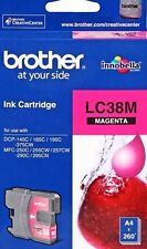 Genuine Brother LC-38,LC38 magenta ink cartridge DCP375,MFC295,MFC257,MFC255