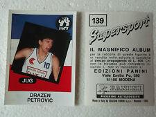 Drazen Petrovic Figurine Supersport Panini 1986 con velina Mint Sticker #139