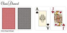 Desjgn 100% Plastic Playing Cards, Bridge Size / Blackjack Index New 1 Set