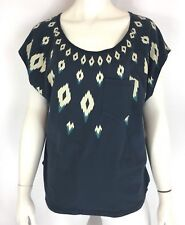 Burton Womens Fair Isle Swag Top Shirt Aztec Print Blue Size XS NWT