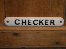 RARE OLD ORIGINAL EARLY GENERAL STORE ''CHECKER'' PORCELAIN SIGN VINTAGE ANTIQUE