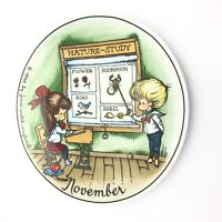 Joan Walsh Anglund Decorative Plate November Walter 1966 Made in West Germany