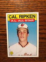 1986 Topps #715 Cal Ripken Baseball Card A.L. All Star Baltimore Orioles Raw HOF