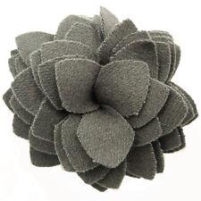 Pince à cheveux bibi broche fleur feutrine soirée cérémonie mariage grise gris