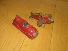 SUN RUBBER DISNEY MICKEY MOUSE FIRE ENGINE & AIR MAIL AIRPLANE FOR FIX PART