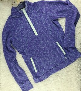 Avalanche purple space dye sweatshirt SIZE S half snap up pullover (R)