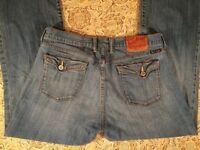 Lucky Brand Womens Designer Blue Jeans Size 12/31 Annie Sweet & Low Boot Cut