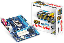 Gigabyte GA-H61M-S2PV Motherboard CPU i3 i5 i7 LGA1155 Intel DDR3 DVI VGA USB3.0