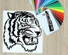 Angry Tiger Head Car Sticker Wall Vinyl Decal Adhesive Window Door Laptop BLACK