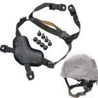 Tactical Helmet Head-Loc Retention X-Nape Chin Strap Black for MICH ACH Helmet