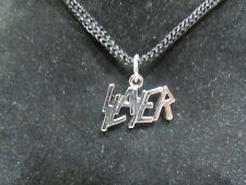 2 Pcs. Vintage 8O'S Slayer Necklace Pendant On Black Rope Cord Licensed Product