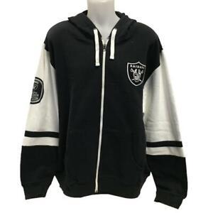 NFL Men's Oakland Raiders Zipper Hoody Sweatshirt Large XL 2X Hoodie Logo Black