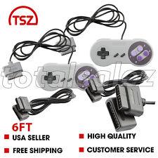 2 For Original Super Nintendo SNES Video Game Controller + 6ft Cable Cord Plug