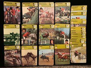 1977-79 Sportscaster Equestrian Sports singles - Choose from list - Nrmt/Nrmt+