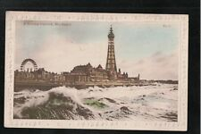 L@@K  A Stormy Outlook Blackpool 1919 Postcard ~ GOOD QUALITY CARD