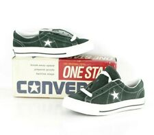 NOS Vtg 90s Converse One Star Suede Oxford Shoes Hunter Green Womens 5.5 Mns 3.5