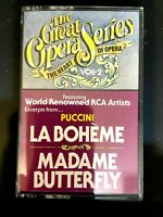 The Great Opera Series The Heart Of The Opera Vol 2 Cassette Tape 1985 Puccini