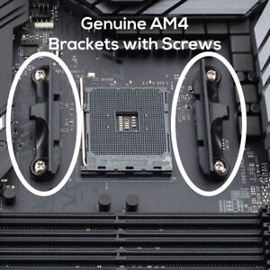 Genuine AM4 AMD CPU Cooler Motherboard Mounting Brackets with Screws