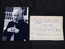 DR. WHO William Hartnell Authentic Signature Restaurant Guest Log Page