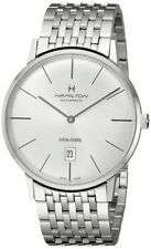 Hamilton Intra-Matic Silver Dial Automatic Open Case Back SS Men Watch H38755151