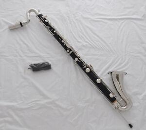 Professionl JinBao Bb 25 key Bass Clarinet Matt Black bakelite Silver nickel +J
