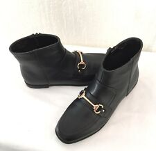 PRIMARK  **  BLACK FAUX LEATHER ANKLE BOOTS  ** SIZE 5