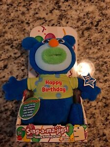 """Mattel The Sing-A-Ma-Jigs """"Happy Birthday"""" Singing Plush Toy Doll Tested Working"""