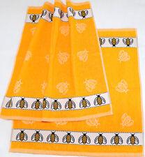 2x Handtücher Bienen Kracht Küche Tücher Frottee Borte Biene Tiere Honig Gelb