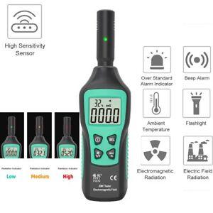 EMF Meter Electromagnetic Radiation Detector Electromagnetic Wave Tester UK
